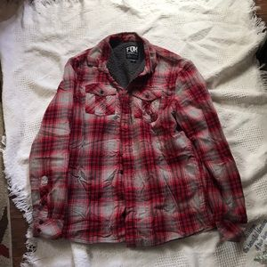 Fox red flannel